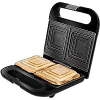 Cecotec Sandwichera Rock'nToast Sandwich Squared. 750 W, Capacidad 2 Sándwiches, Acabado en Acero Inoxidable, Placas…