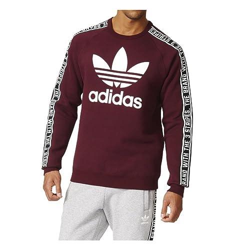 Adidas Essentials Crew - Sudadera para Hombre, Hombre, borgoña, XXL - 62: Amazon.es: Deportes y aire libre