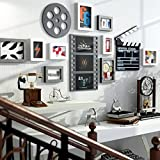 Frame Frame, Modern Simple Atmosphere Retro Living Room Bedroom Combination Solid Wood Photo Wall Hundred-lap Photo Frame Home Decoration ( Color : A )