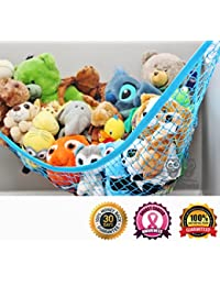 MiniOwls TOY STORAGE HAMMOCK XL Organizer in Blue (also comes in White & Pink) De-cluttering Solution & Inexpensive Idea for Every Room at Home or Facility - 3% is Donated to Breast Cancer Foundation BOBEBE Online Baby Store From New York to Miami and Los Angeles