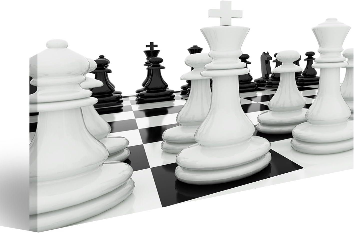 islandburner Cuadro Cuadros Piezas de ajedrez en un Tablero de ajedrez Genial y Muy Bonito FGN: Amazon.es: Hogar