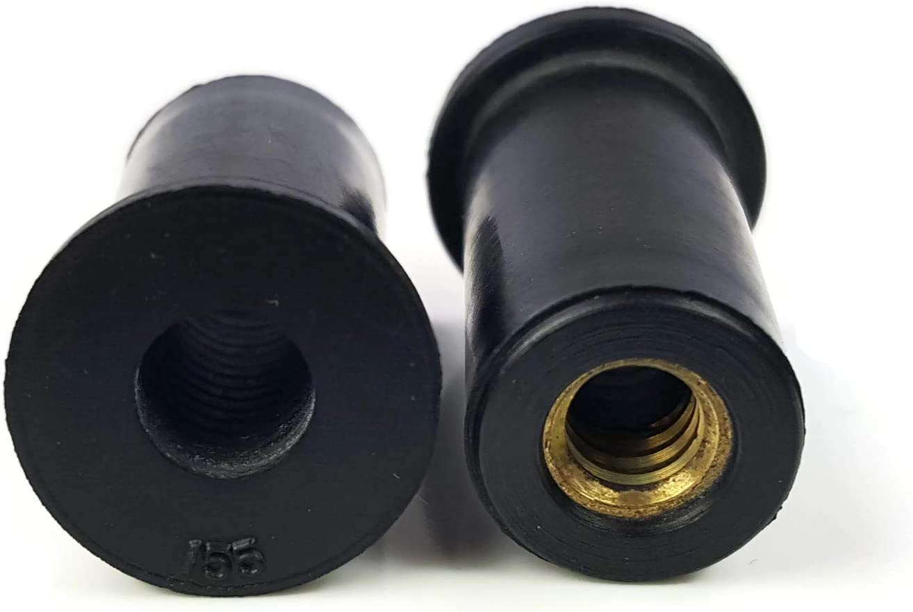 10 ea M5 Rubber Well Nut Metric Nuts windscreen bolts