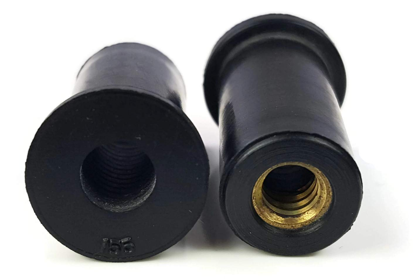 0.035-0.232 Grip 0.377 inch hole QTY 25 Rubber Well Nuts Brass Insert Expansion Nut SAE Inch Sizes #10-32 x 0.665