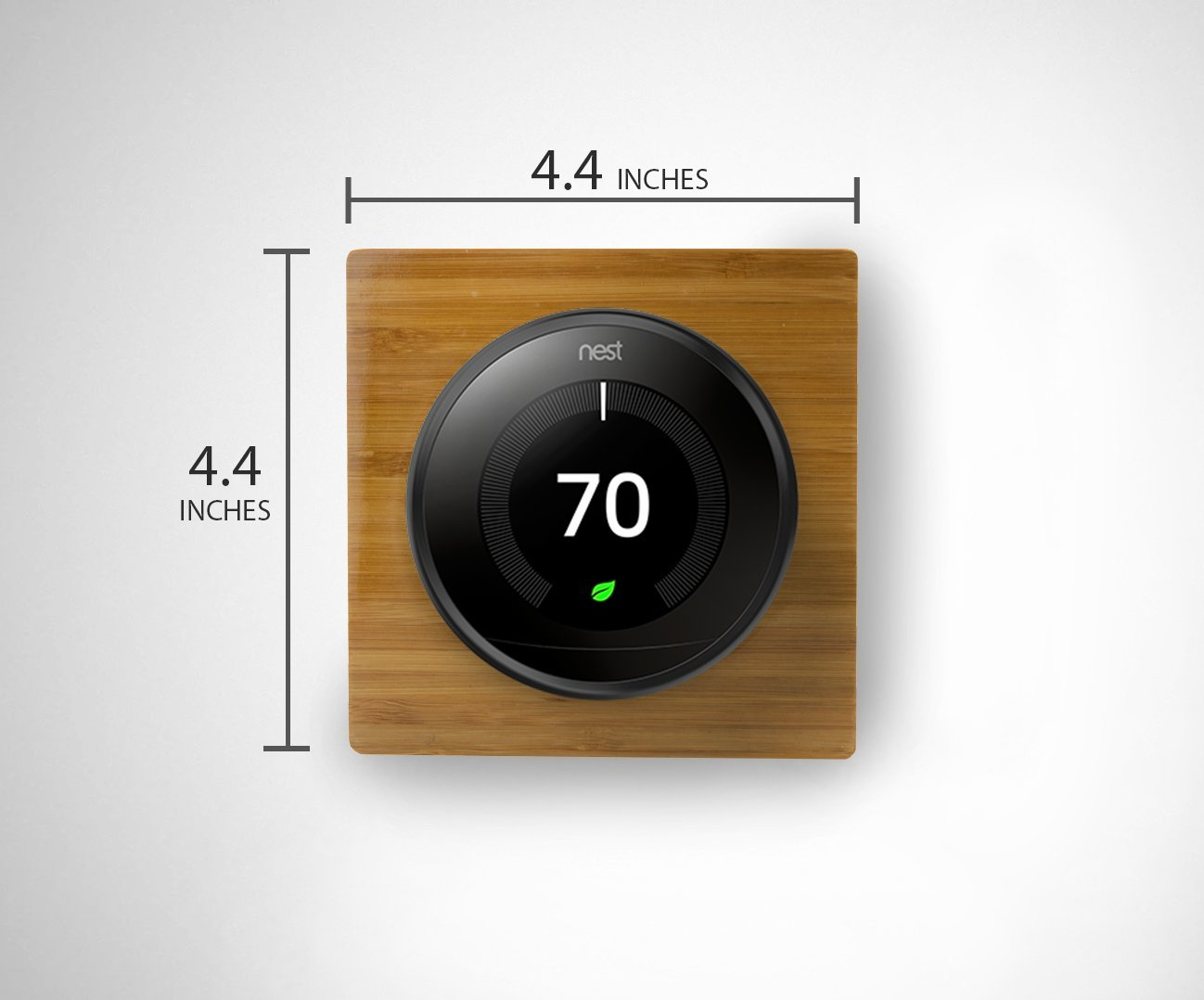 Nest Thermostat Wall Plate Cover (Solid Bamboo - Square - Glossy Finish) for Nest Learning 1st 2nd 3rd Generation and E by IE Works (Image #4)