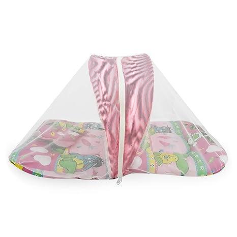 Combo para bebés de la cama con mosquitera y los pañales que ...