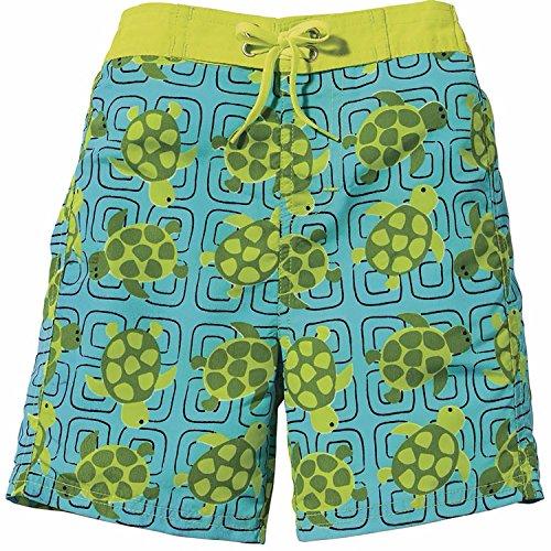 [Sun Smarties Toddler UPF 50+ Turtle Swim Diaper Swim Suit Trunks 24 Mo., Green, Aqua] (Turtles Suit)