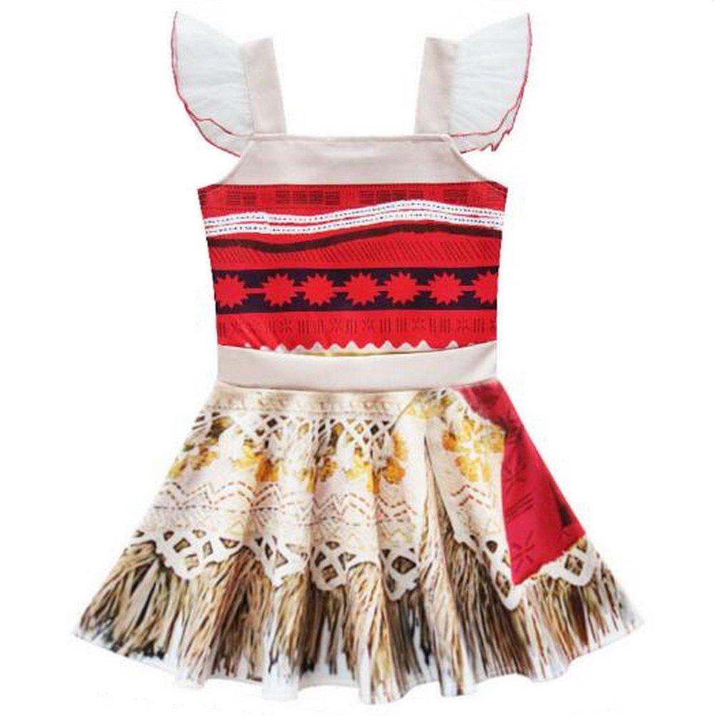 Niña Disfraz de Princesa Moana Vestir para Disfraces cuento de hadas cosplay 3 - 4T