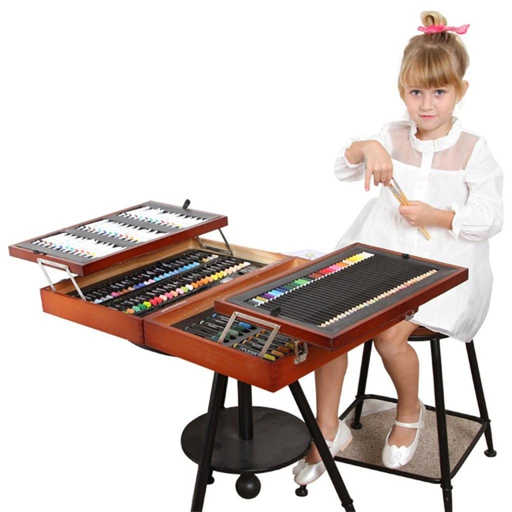 encuentra tu favorito aquí Set de arte, Set de artista de madera de de de 174 piezas Set de artista de arte profesional para niños, perfecto para principiantes o artistas en ciernes Niños Adultos  producto de calidad
