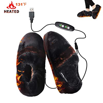 Heated Shoes GMAYOO Heating Slippers, Thanksgiving Gift Christmas Gift, Heat Up Slippers Cold Weather Shoes Comfortable Plush USB Electric Heating Slippers Shoes to Keep Feet Warm for Men Women: Health & Personal Care