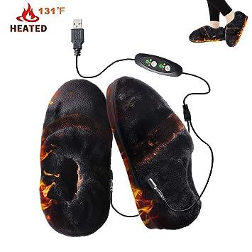 Amazon.com: GMAYOO Zapatillas de Calefacción, Calefacción ...