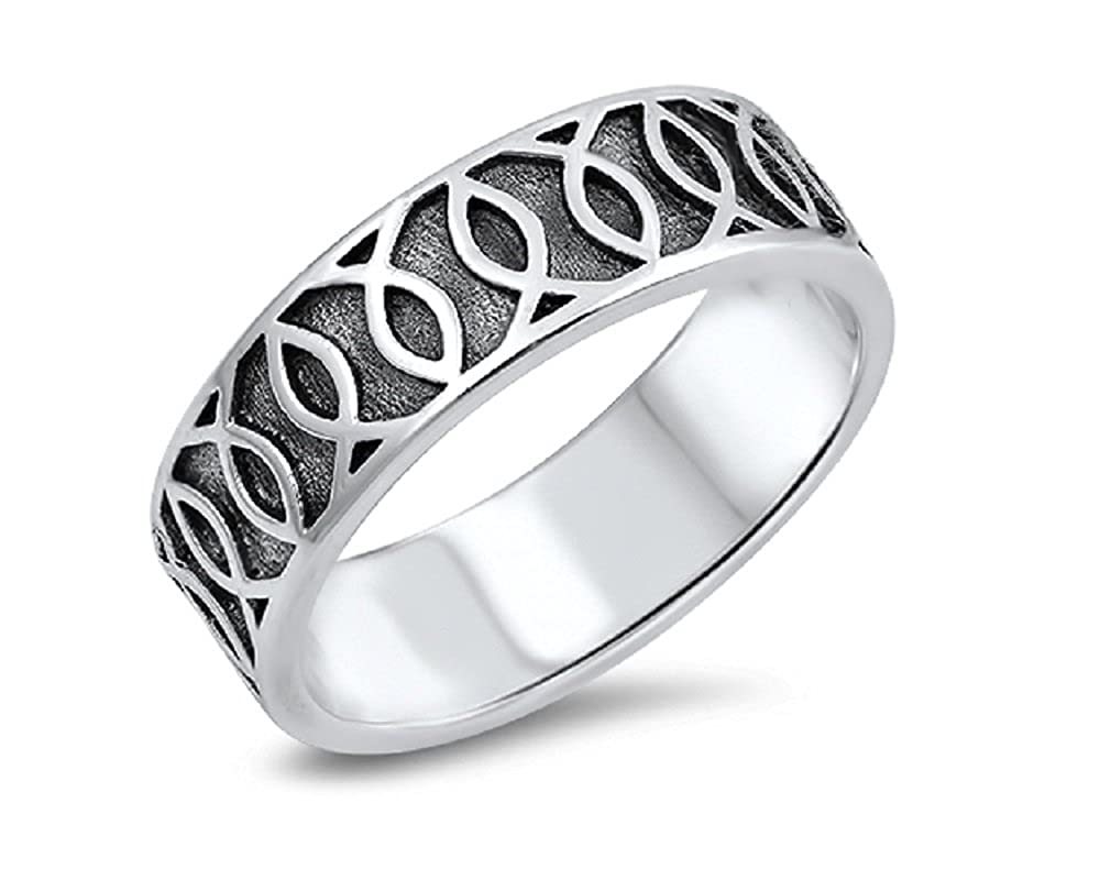 CloseoutWarehouse Oxidized Sterling Silver Designer Brand Ring