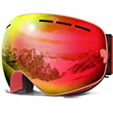 COPOZZ Ski Goggles, OTG Snowboard Goggles Anti Fog UV Protection Polarized Lens