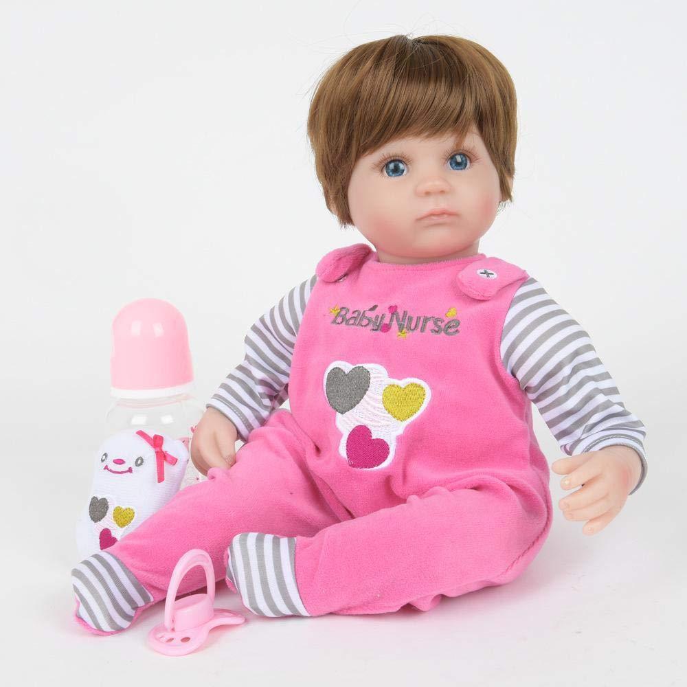 Hongge Realista Renacimiento Silicona Baby Doll Toy Niño Muñeca Juguete Mejor 45 cm