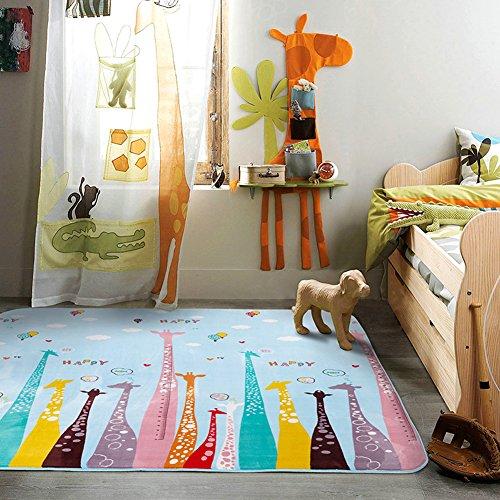 MeMoreCool Colorful Giraffe Cartoon Area Rugs Anti-slip