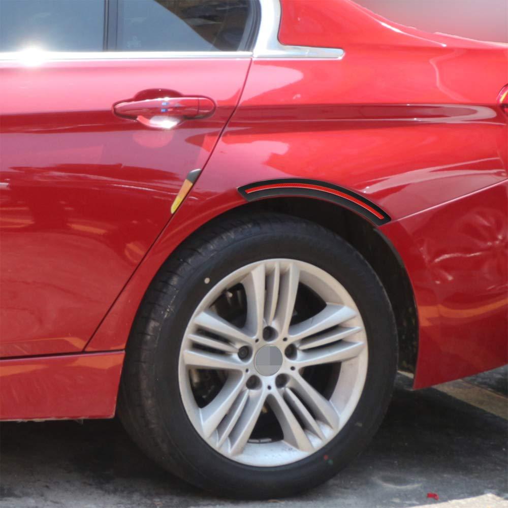 GLL 2pcs Auto Rad Kotfl/ügel Augenbrauen Kantenschutz Streifen Leiste Sto/ßstange Schutzfolie Anti-Scratch Corner Pad Fit Meisten Auto