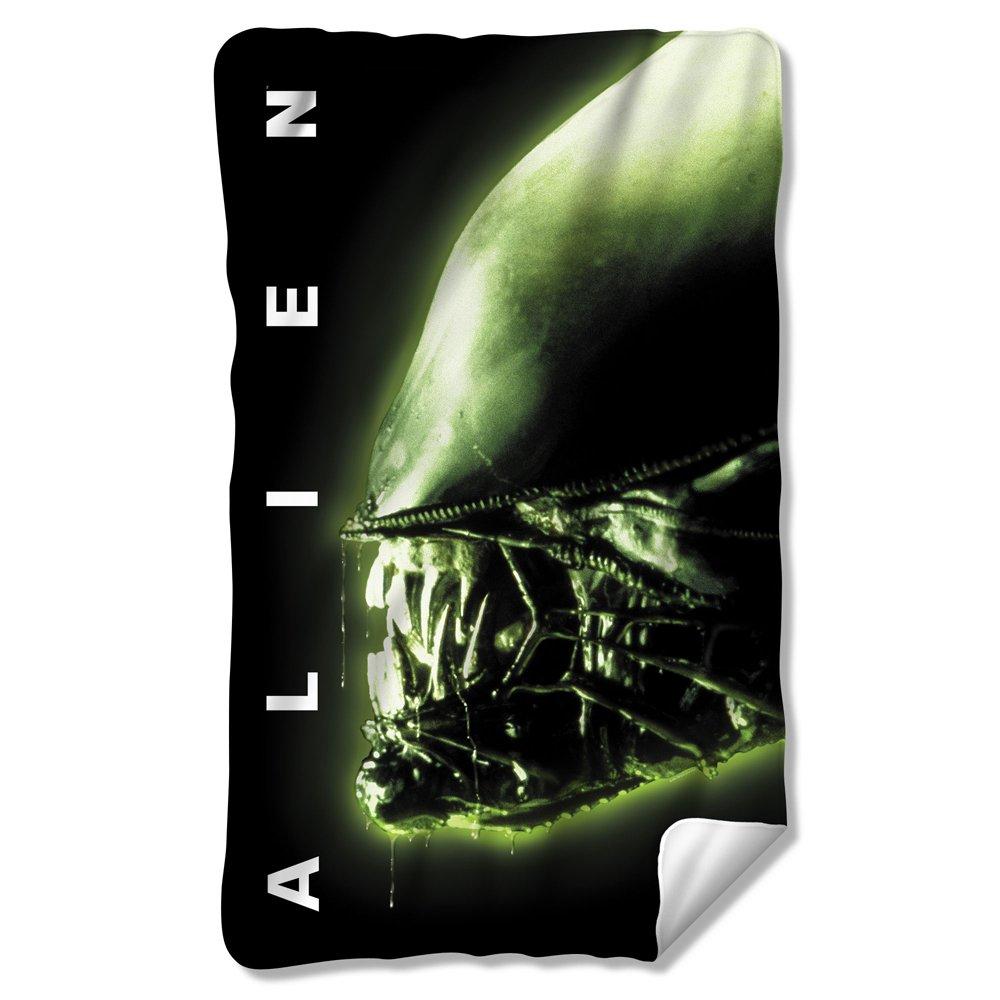 Alien 1979 Horror Science Fiction Movie Alien Head Poster Fleece Blanket