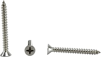 82 Degrees 3//8 to 1-1//2 in Listing 100 Sheet Metal Screws #4 x 3//4 #4 x 3//4 Stainless Phillips Pan Head Sheetmetal Screw