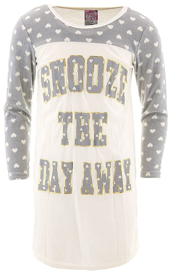 SWEET N SASSY Little Girls Snooze The Day Away Ivory Nightgown
