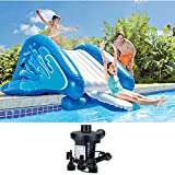Intex HUGE Inflatable Swimming Pool Water Slide Play Center with Water Sprayer and Electric Air Pump