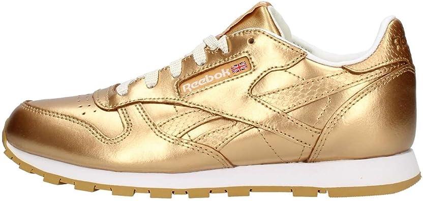 Reebok Classic Leather Metallic, Zapatillas de Running para Mujer: Amazon.es: Zapatos y complementos