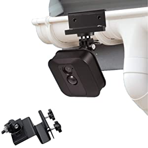 Weatherproof Gutter Mount for Blink XT2 Outdoor Camera with Universal Screw Adapter - by Wasserstein - Best Viewing Angle for Your Surveillance Camera (1 Pack, Black)