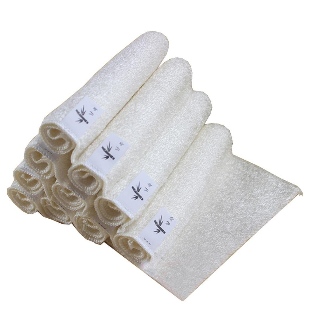 5点 竹繊維 ふきん タオル ホワイト キッチン 激安☆超特価 18x16cm Vibola ディッシュクロス Size: 4.53