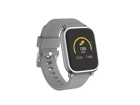 Denver Electronics SW-160 Gris– Reloj Inteligente, Bluetooth, Sensor de frecuencia cardíaca, Muestra la identificación de Llamadas y la notificación ...
