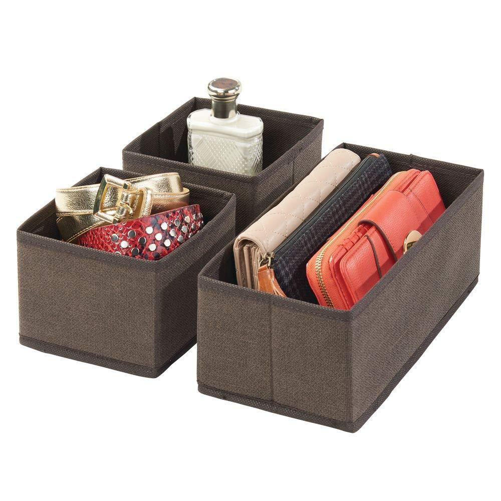 atmungsaktive Stoffbox f/ür Socken mDesign 12er-Set Aufbewahrungsbox naturfarben//kobaltblau Leggings etc Unterw/äsche vielseitige Schubladen Organizer f/ür Schlaf- und Kinderzimmer