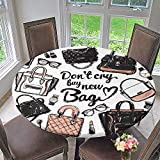 PINAFORE HOME Round Premium Table Cloth Graphic Bags Design Glasses Watch Coffee Cup