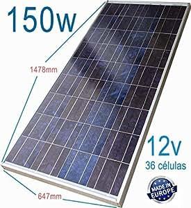 Placa Solar 150w Panel solar Fotovoltaico Polycrystalline 36 Células