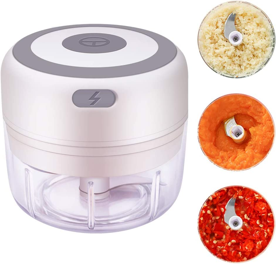 YEVIOR Mini Food Chopper Electric, Portable Garlic Chopper Vegetable Chopper - Onion Chopper with Container, Mini Food Processor for Garlic, Ginger, Chili, Nuts, Meat, Durable and Multifunction