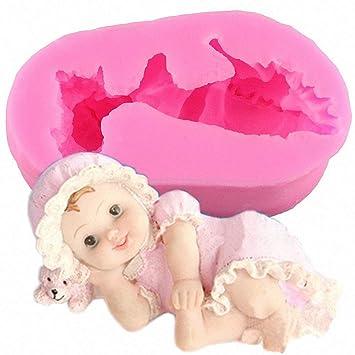 Inception Pro Infinite Molde de Silicona para Uso Artesanal de un bebé acostado en la Cabeza con una Cabeza - también es Adecuado para el jabón: Amazon.es: ...