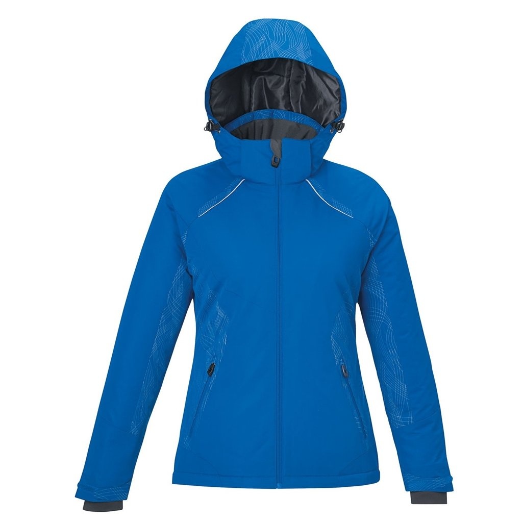 Ash City Ladies Linear Insulated Jacket (X-Small, Nautical Blue)