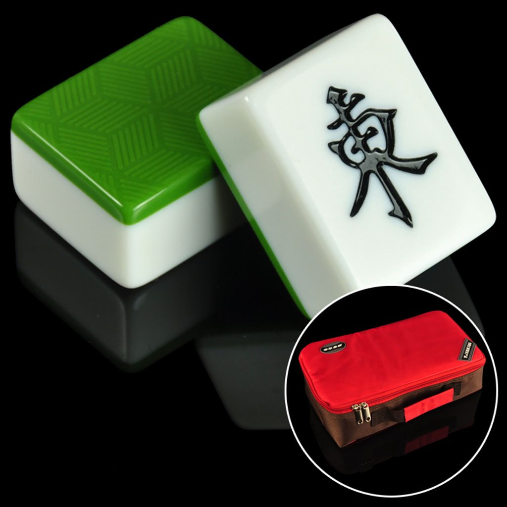 Mahjong LI JING SHOP - Bamboo wire Double layer Home Hand rubbing card, Dark green solid Melamine Material, Size: 3.8 * 3.0 * 2.0CM/4.0 * 3.1 * 2.1CM/4.2.23.2*2.2CM (Size : 4.2*3.2*2.2CM)