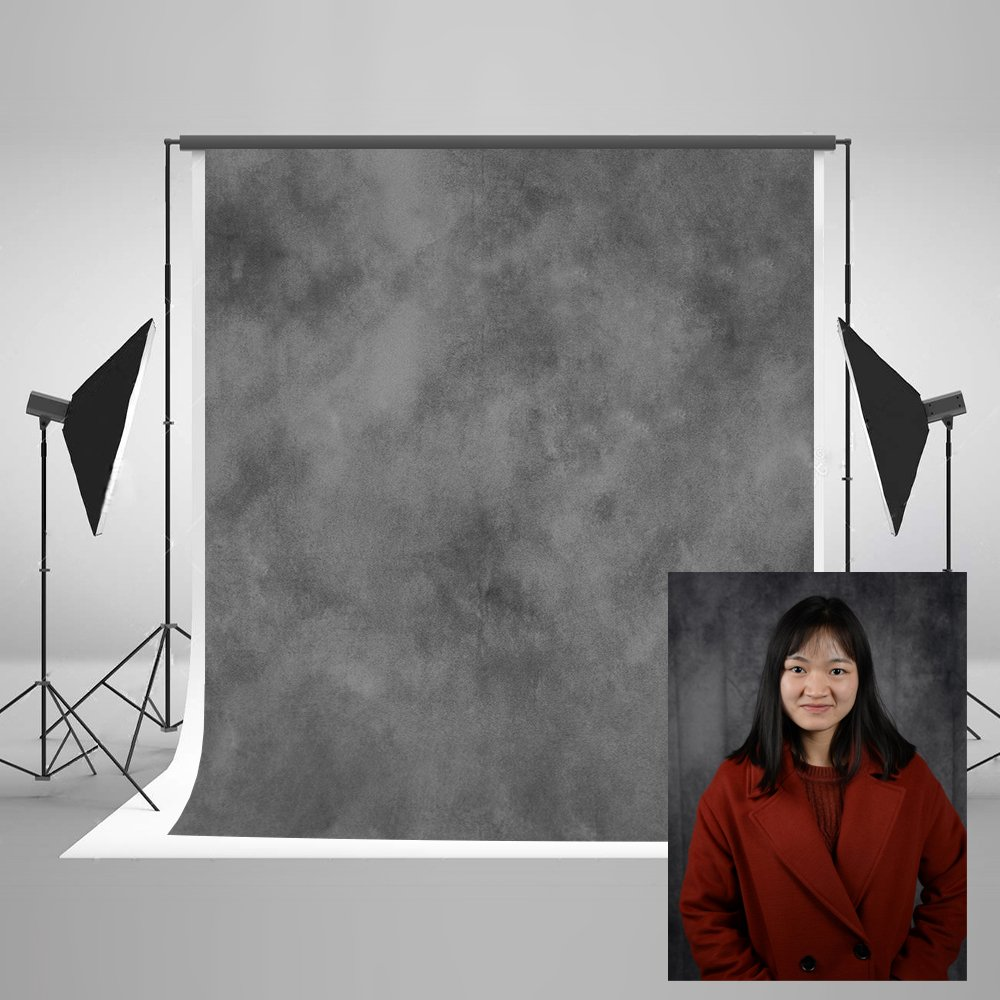 Kate 5ft(W) x7ft(H) Texture Portrait Photography Backdrops for Photographers Microfiber Black Abstract Old Master Photo Backdrop Professional Head Shots by Kate