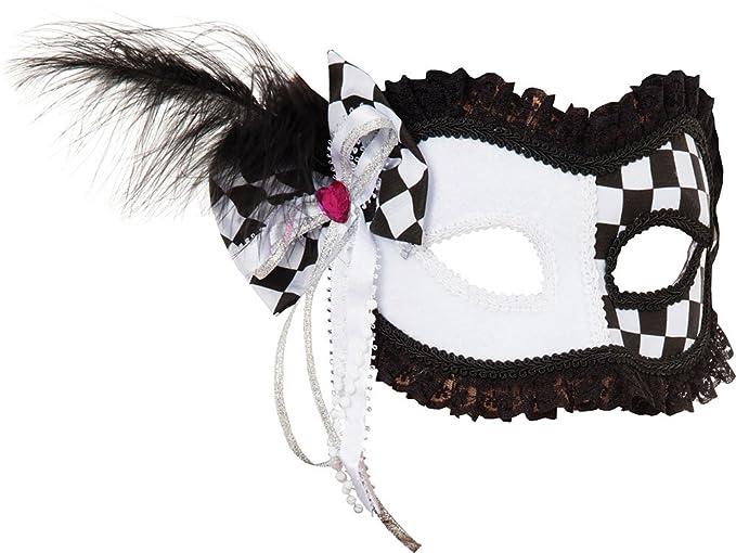 Mujer Disfraz De Halloween Accesorio De Disfraz Arlequín Bufón (gf) Máscara