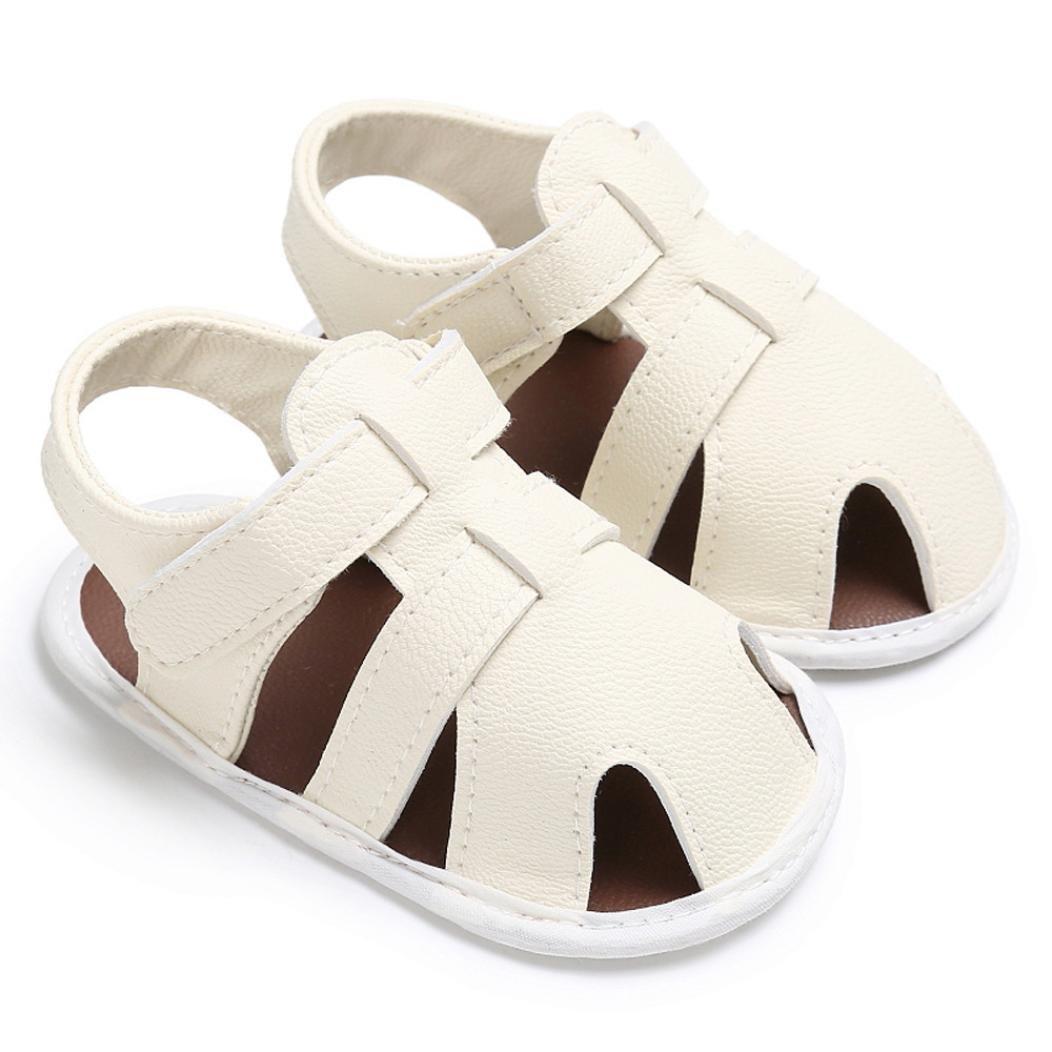 SHOBDW Boys Shoes Baby Toddler Boys Cute Crib Shoes T-Tied Soft Prewalker Soft Sole Anti-Slip NewbornShoes Sandals