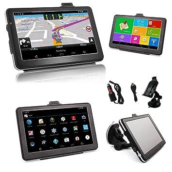 wohmobil automóviles 7 pulgadas GPS Navi y tablet para camiones Android autobús BT