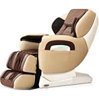 Titan TPPRO8400D Model TP-Pro 8400 Massage Chair in Cream, L-Track Massage Function, Zero Gravity Massage, Auto Recline, Foot Roller Massage, Heating Function on Back, Leg Adjustments
