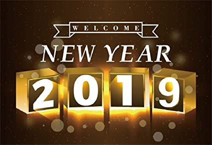 aofoto 7x5ft welcome new year 2019 backdrop fashion christmas background carnival cocktail party decoration xmas holiday