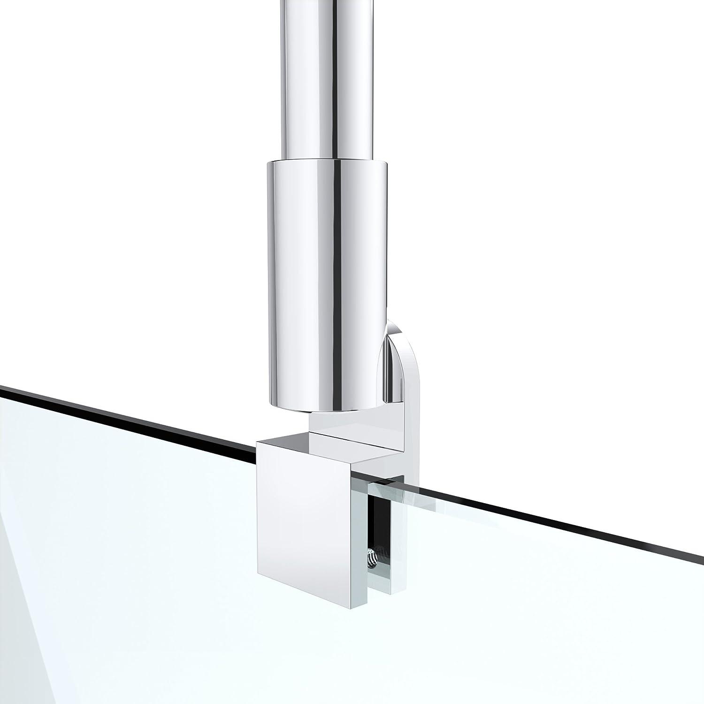/400/mm Cristal Fortalecer 6/ /10/mm G33 Asidero bieleta para mamparas de ducha techo mamparas de ducha Ducha Mampara de acero inoxidable redondo ajuste 200/