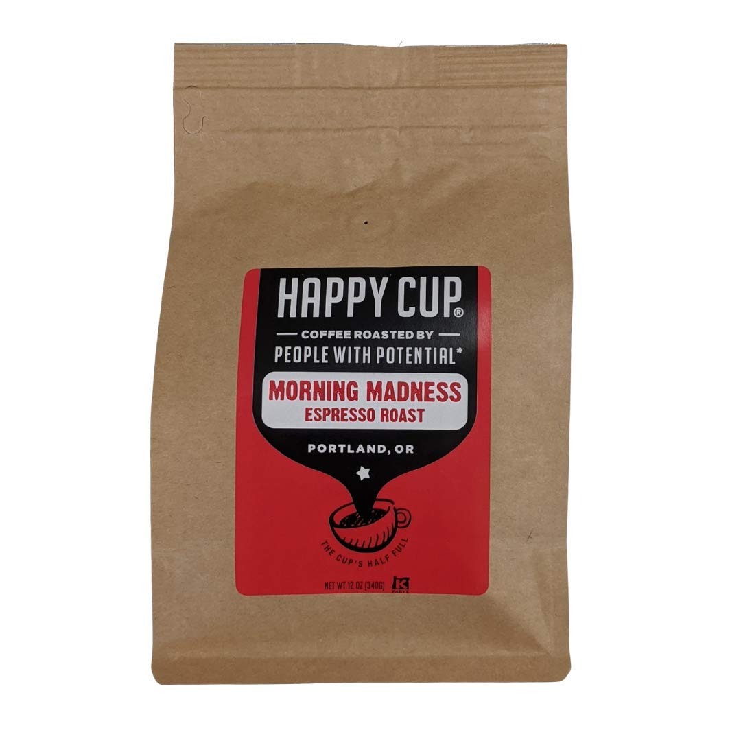 Happy Cup Coffee, Coffee Espresso Roast, 12 Ounce