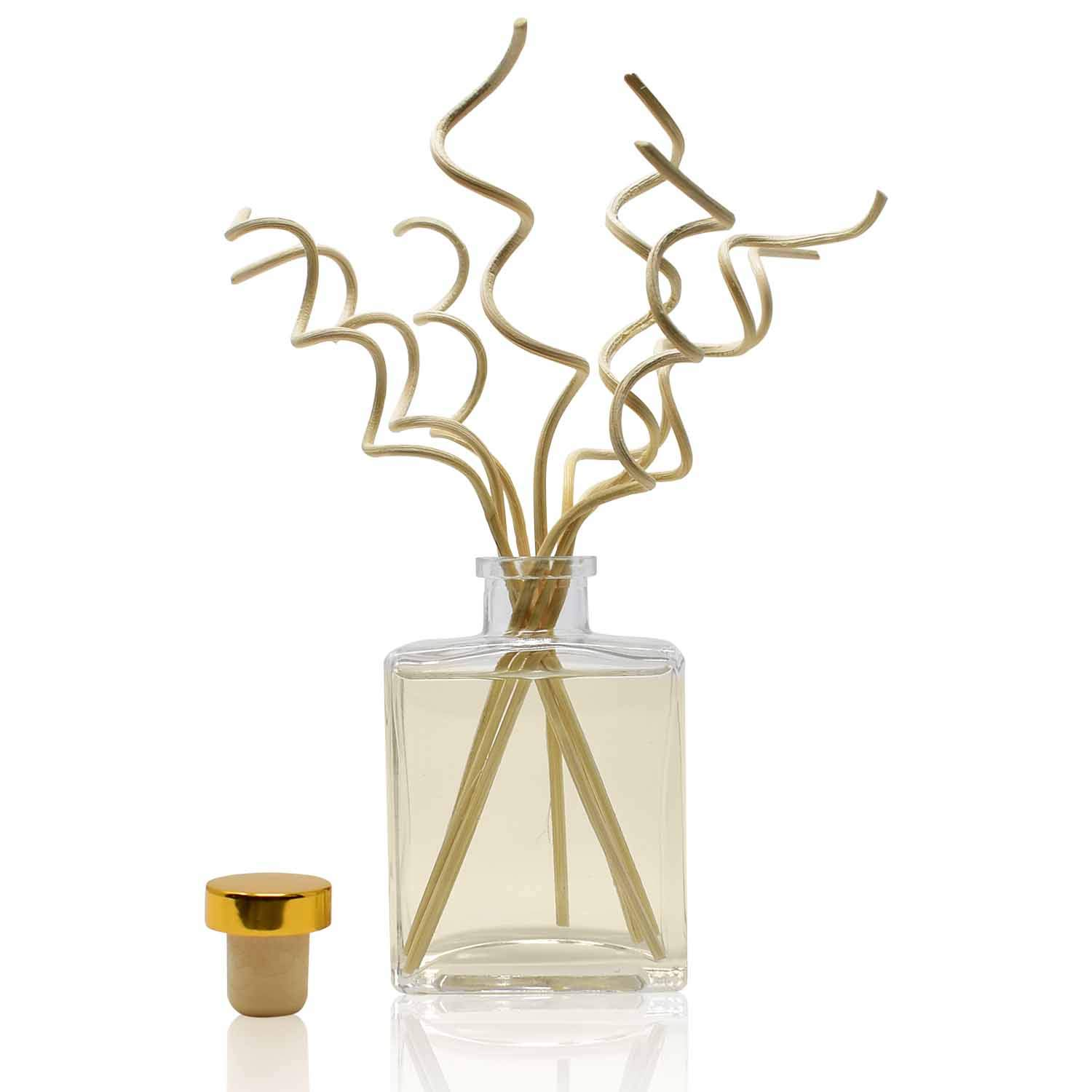 HOUZZ Interior Mango Mandarin Scented Reed Diffuser Oil Set with Decorative Curly Bamboo Reed Sticks - All Natural Citrus Essential Oils - No Sulfates or Parabens - Made in The USA by HOUZZ Interior (Image #6)