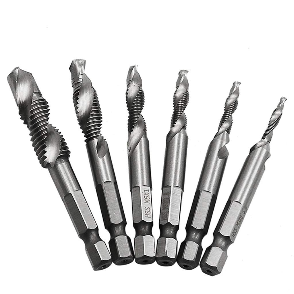 Aviat Hex Shank Tap Bit Drill Bits High Speed Steel Compound Spiral Screw Thread Taps Digger Electric Auger Tools & Home Improvement