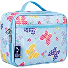 Wildkin Lunch Box, Insulated, Moisture Resistant, & Easy to Clean with Extras for Quick and Simple Organization, Ages 3+, Perfect for Kids or On-The-Go Parents, Olive Kids Design, Butterfly Garden