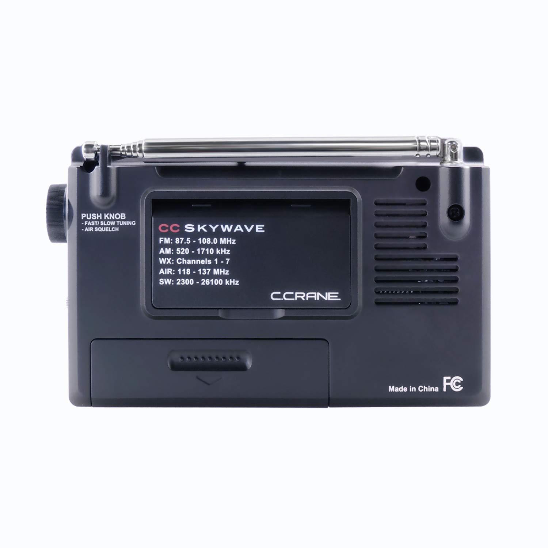 C Crane Cc Skywave Am Fm Shortwave Weather And Sw Active Antenna Airband Portable Travel Radio With Clock Alarm Electronics