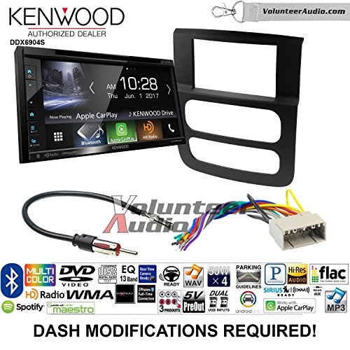 Volunteer Audio Kenwood Excelon DDX6904S Double Din Radio Install Kit with Satellite Bluetooth & HD Radio Fits 2002-2005 Ram Vga Install Kits