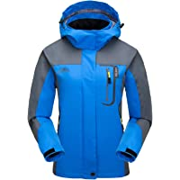 7VSTOHS Chaquetas Softshell Ligeras para Mujer Impermeable Transpirable