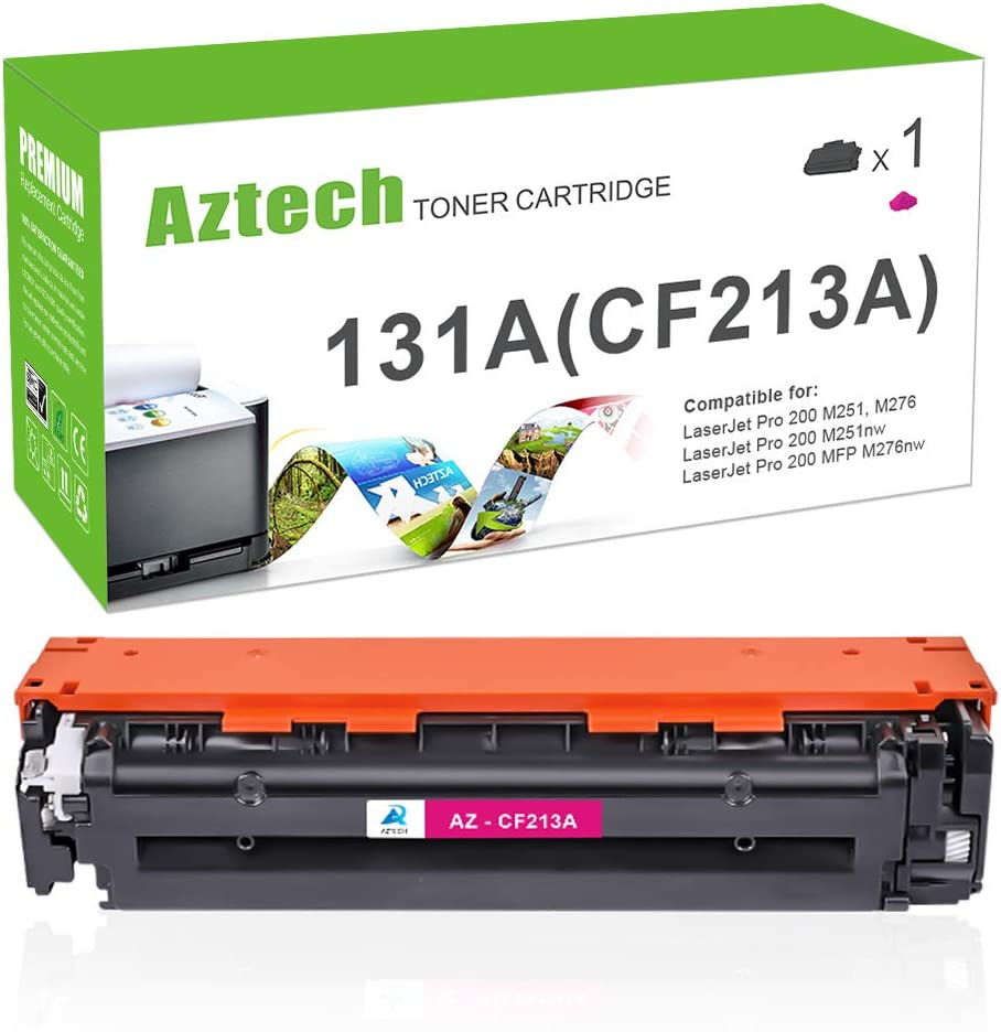 Aztech Compatible Toner Cartridge Replacement for HP 131X 131A CF213A for Laserjet Pro 200 Color MFP M276nw M251nw MF8280Cw M276n M251n (Magenta, 1-Pack)
