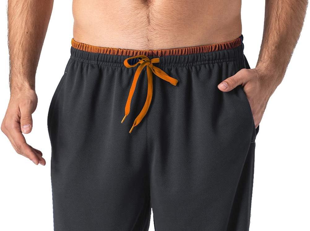 MAGCOMSEN Herren Jogginghose Sommer Leicht Hose Atmungsaktiv Trainingshose mit Rei/ßverschlusstaschen M/änner Outdoor Freizeithose Elastische Taille Sporthose f/ür Running Yoga Fitness